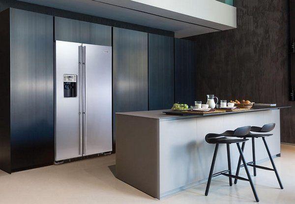 Amerikaanse koelkast met doorlopende deuren