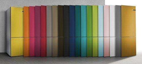 De BOSCH koelkast KGN36IJ3A is leverbaar in meerdere kleuren door middel van verwisselbare fronten