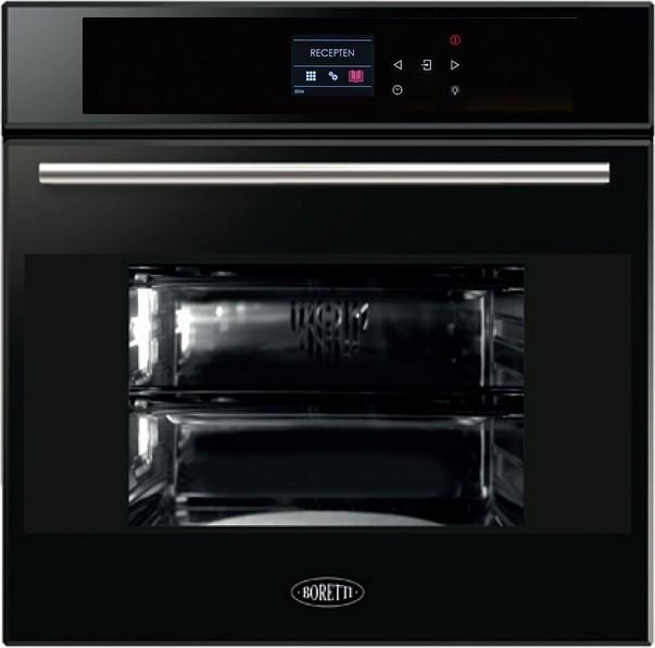Boretti BPON60ZWGL inbouw oven - zwart