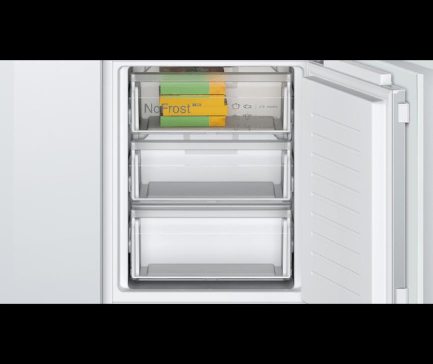 Bosch KIN86NFF0 inbouw koelkast - nis 178 cm.