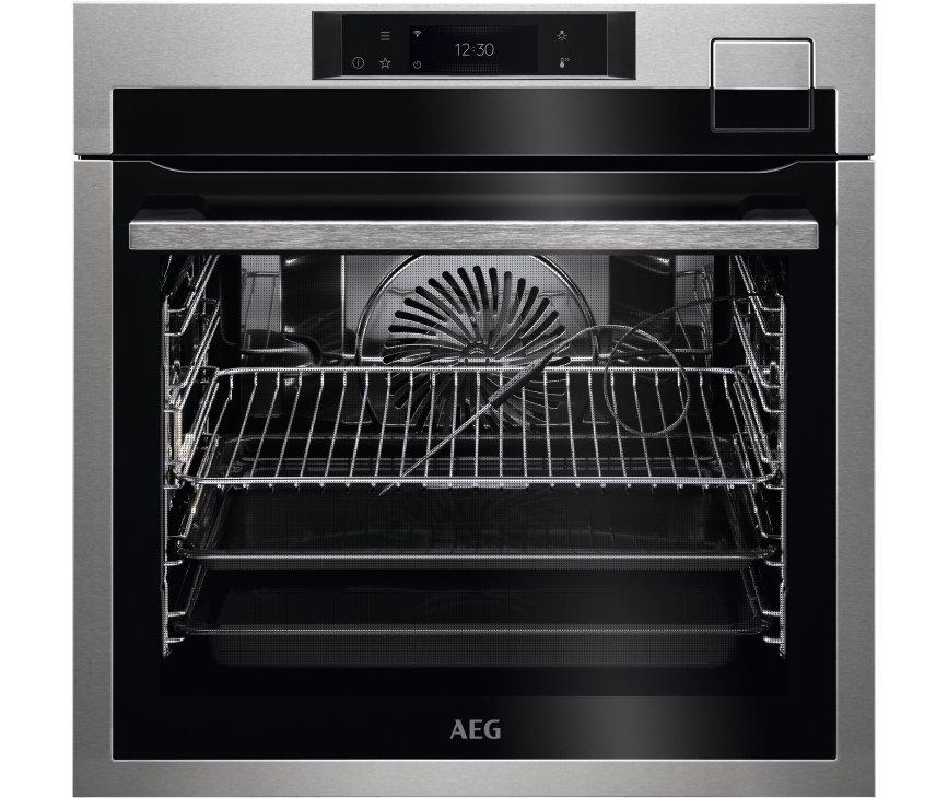 AEG BSE798280M inbouw rvs oven met SteamPro