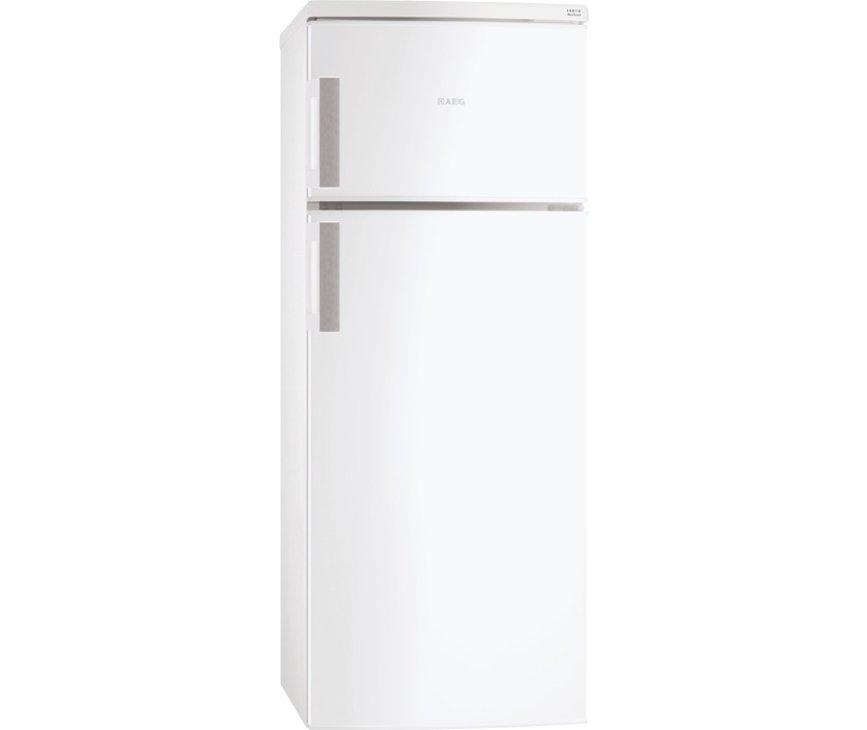 De buitenzijde van de 160 cm. hoge Aeg S52700DSW1 koelkast wit