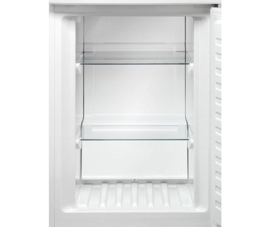De vriesruimte van de Aeg S53110CNW2 koelkast wit is tevens voorzien van extra stevig veiligheidsglas