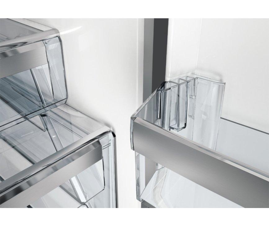 De Aeg S53420CNX2 koelkast RVS beschikt over meerdere deurvakken