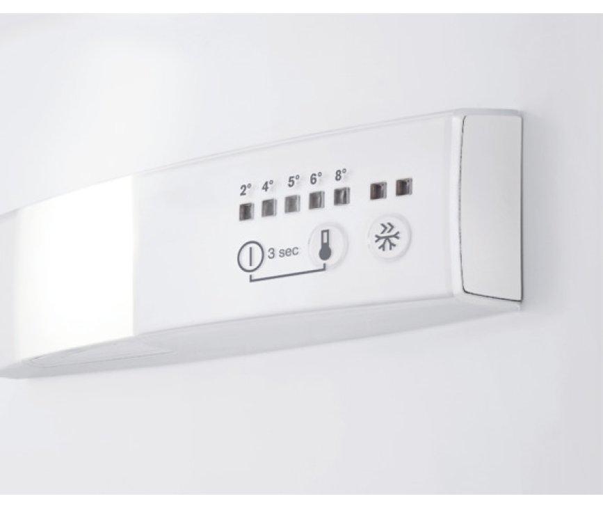 De thermostaat van de Aeg S53830CNX2 koelkast rvs