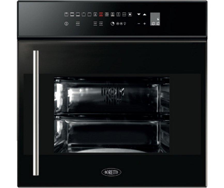 Boretti BPOD60ZWGL inbouw oven met draaideur - zwart glas