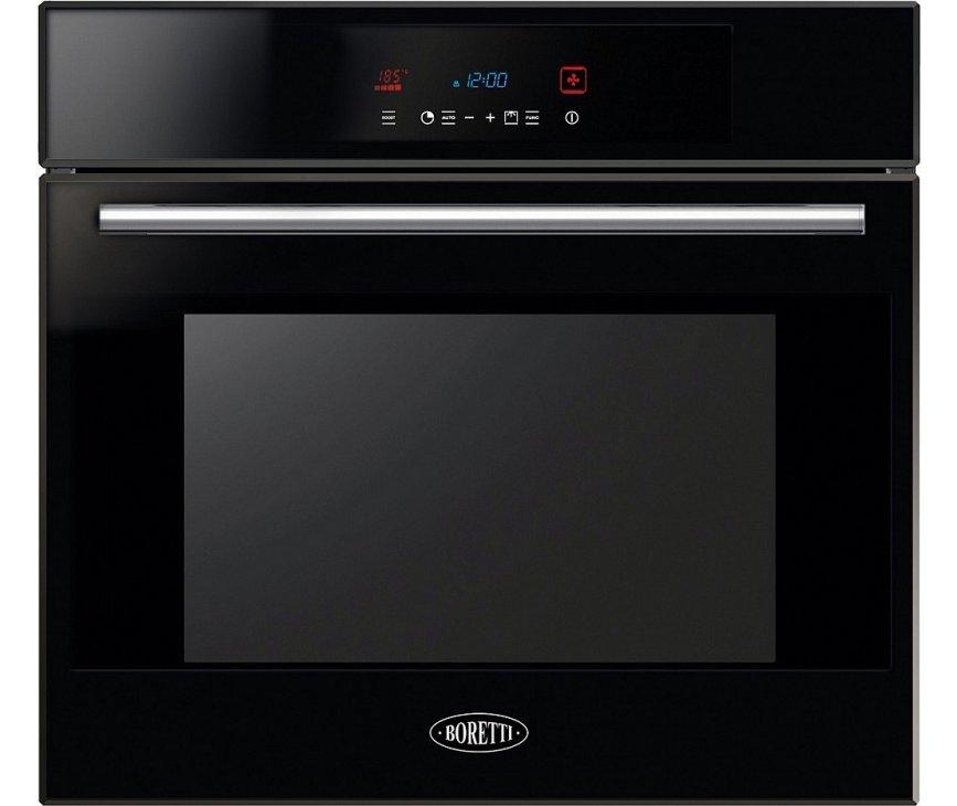 Boretti BPOP75ZWGL inbouw oven met pyrolyse - zwart glas
