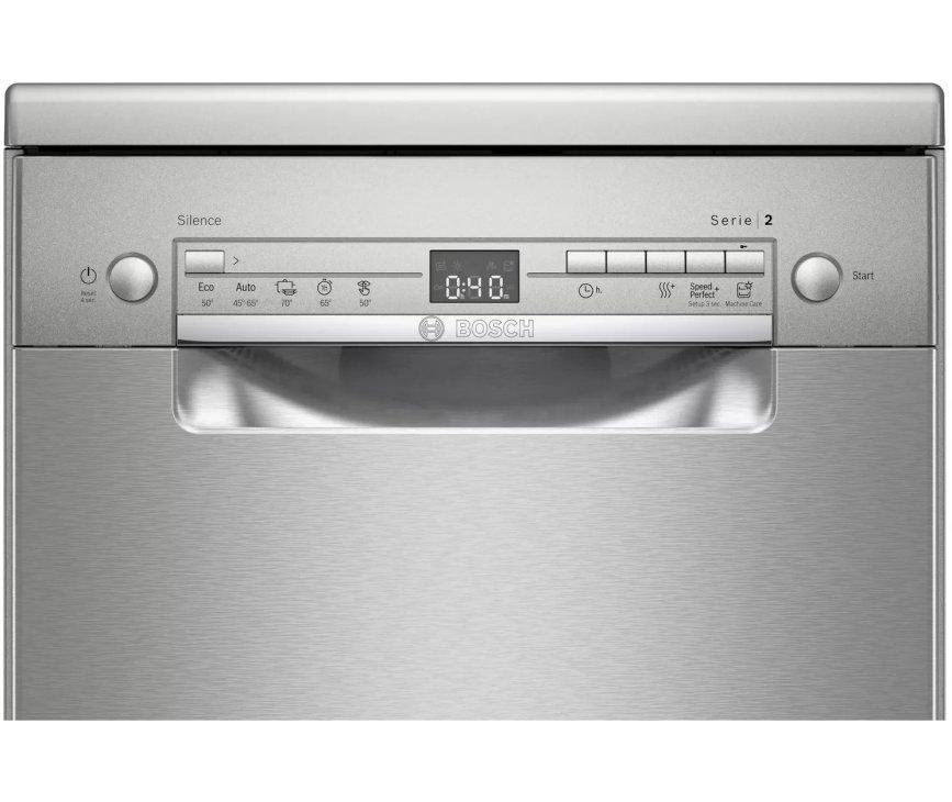 Bosch SRS2HKI59E smalle 45 cm. brede vaatwasser - rvs-look
