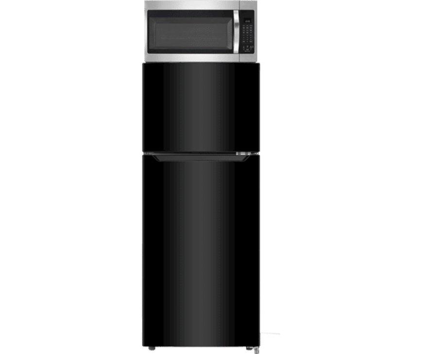 Hisense RT156D4ABF dubbeldeus koelkast - zwart - 118 cm. hoog