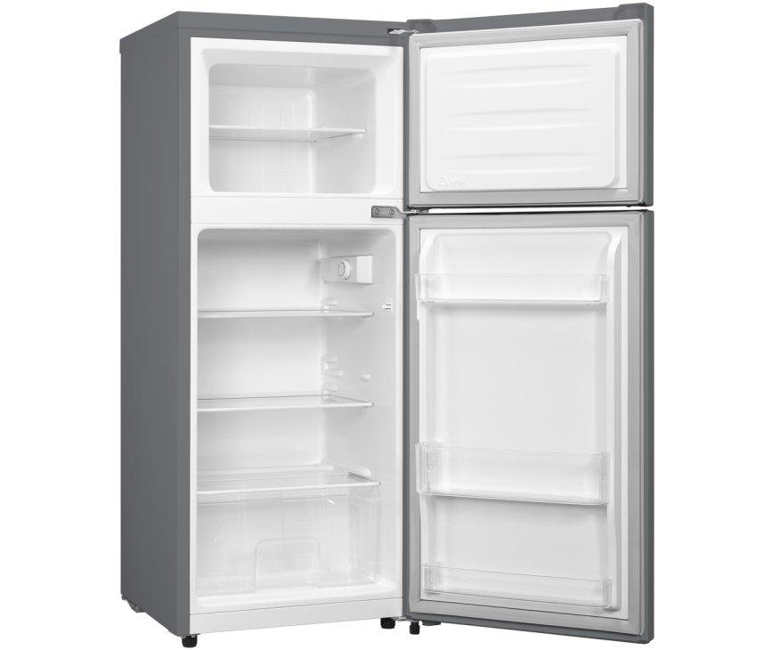 Hisense RT156D4AGF koelkast rvs-look - dubbeldeurs - 118 cm. hoog