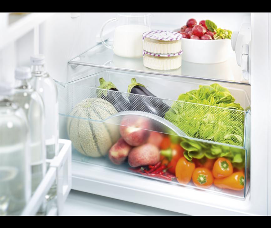 De groentelade van de Liebherr CTP2521 bevindt zich onderin over de gehele breedte van de koelkast