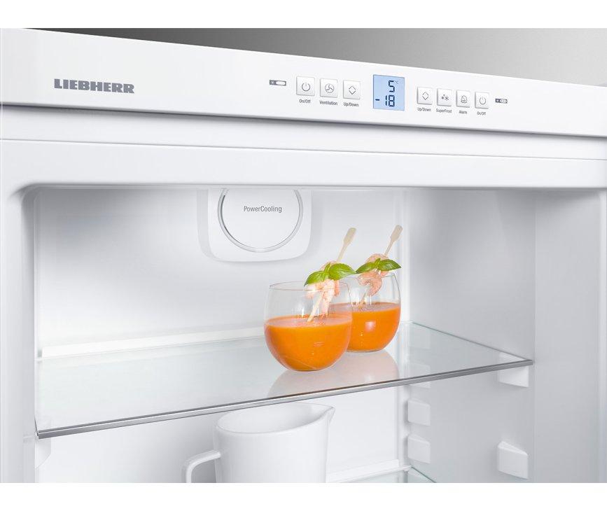 Het display van de Liebherr CN4713 koelkast