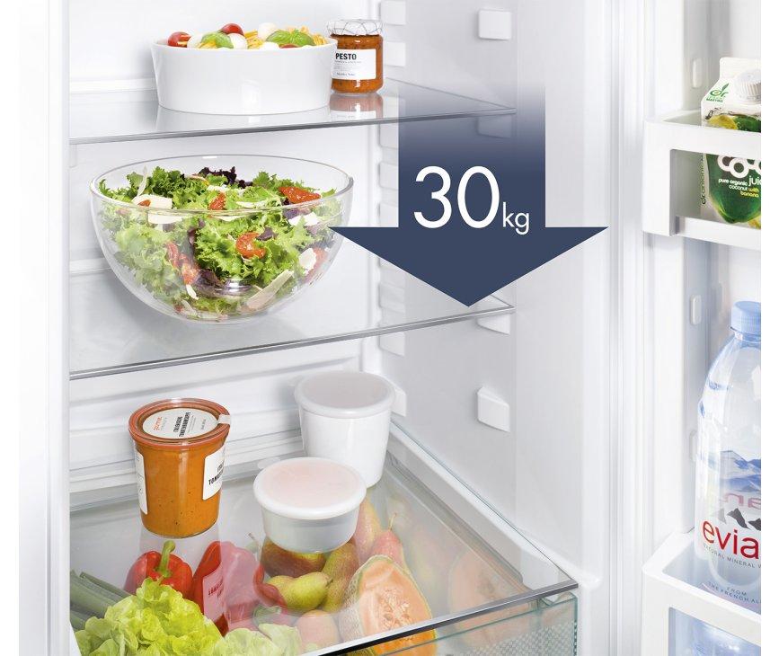 De glazen leggers in de Liebherr CN4713 koelkast kunnen wel wat hebben