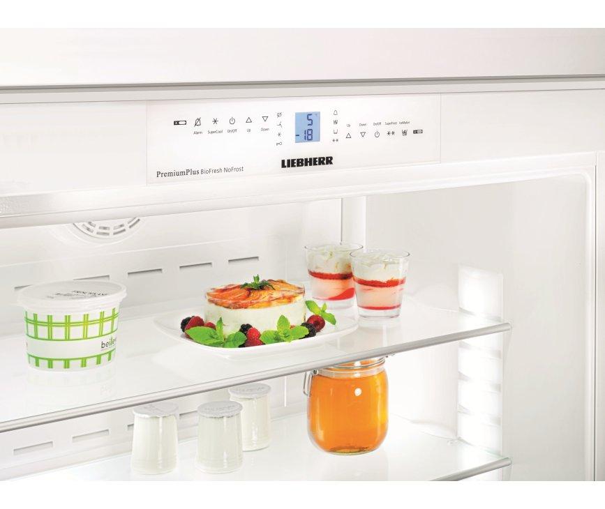 De Liebherr ECBN6156 inbouw koelkast beschikt over PowerCooling en SuperCool, voor snellere temperatuurverlaging
