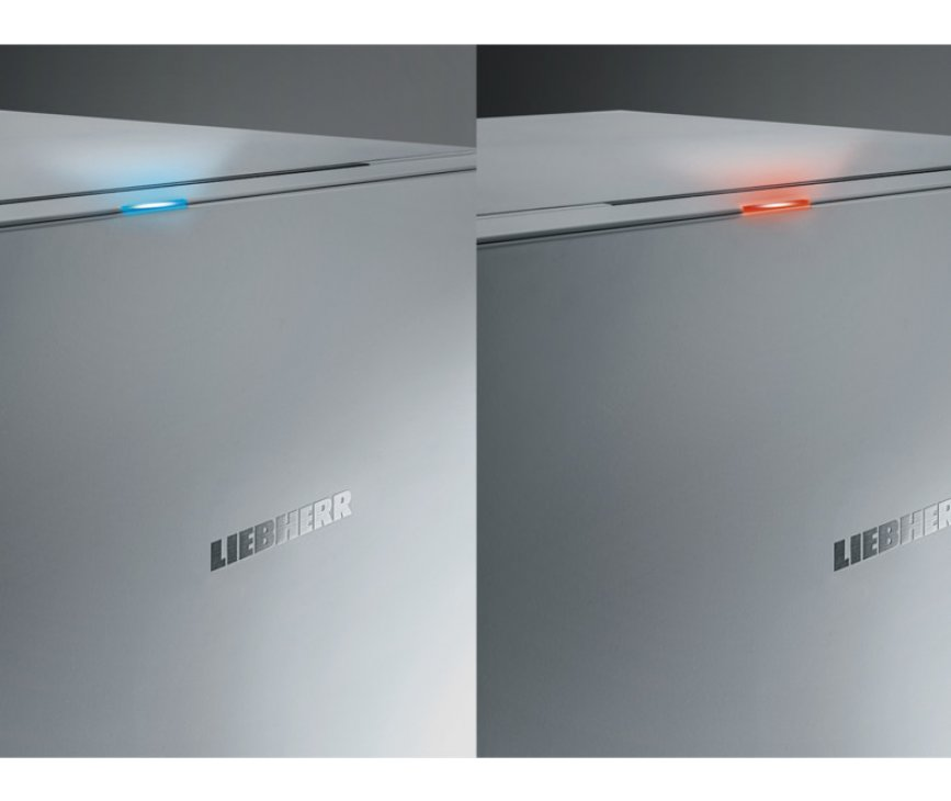De Liebherr GNP3855 vriezer / vrieskast wit heeft een indicatielampje bovenop