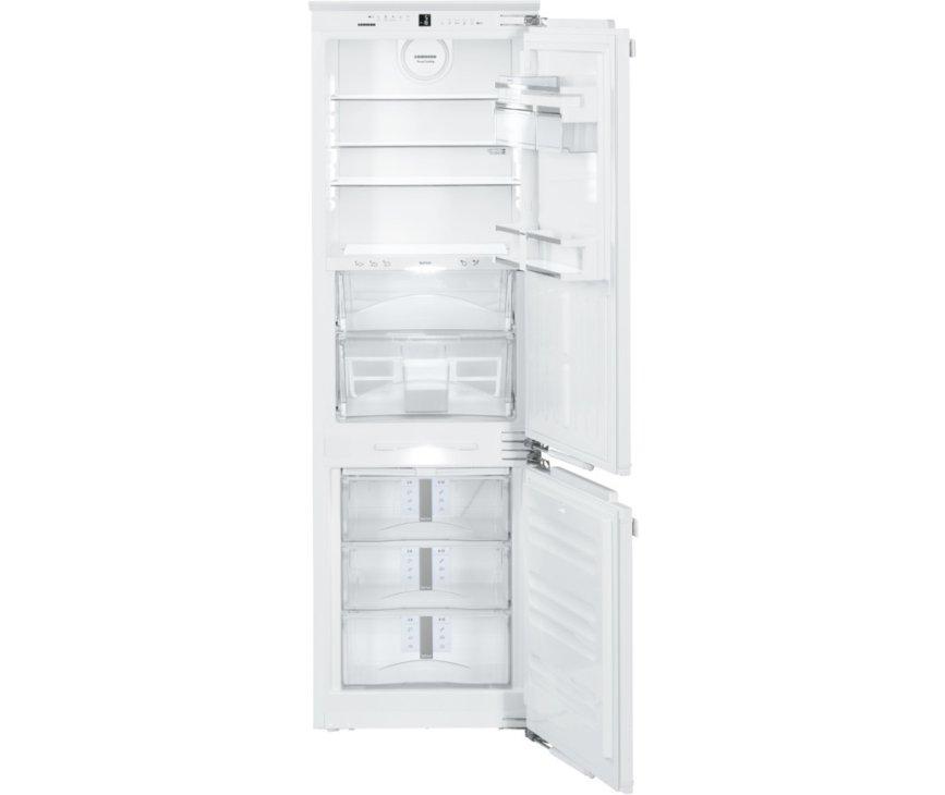 Het interieur van de Liebherr ICBN3376 inbouw koelkast