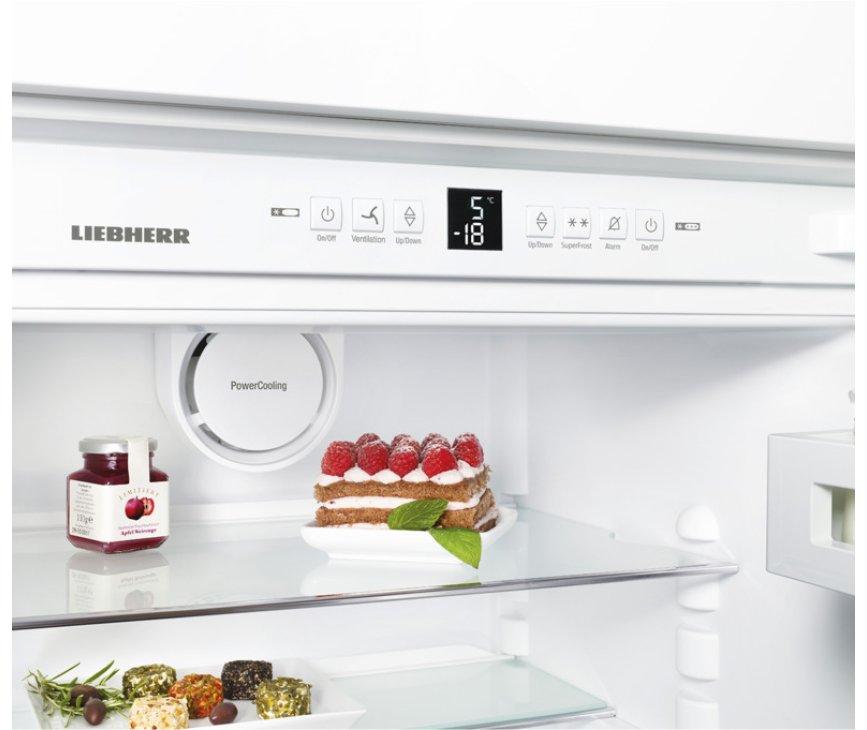 Het bedieningspaneel van de Liebherr ICBS3224 inbouw koelkast