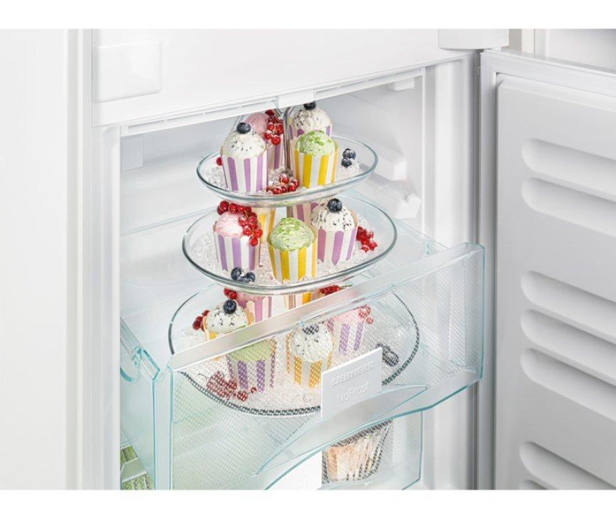 De Liebherr ICUNS3324 inbouw koelkast heeft ruimte vrieslades