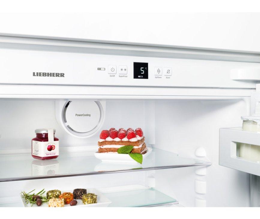 Het bedieningspaneel van de Liebherr ICUS3224 inbouw koelkast