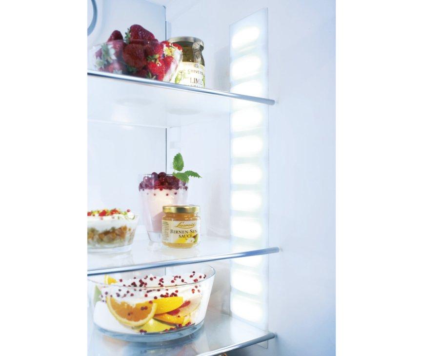 De Led verlichting in de Liebherr IKBP2764 zorgt voor overzicht in de koelkast