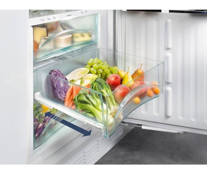 Uitschuifbare BioFresh lade in het koelgedeelte