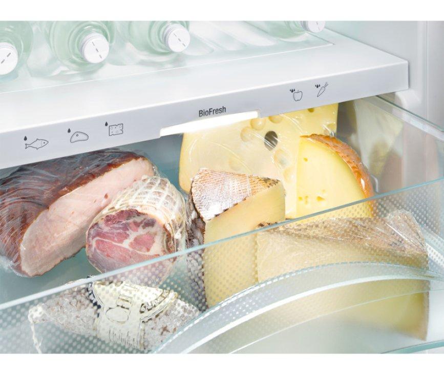 De Liebherr IKBP2964 beschikt over een BioSafe lade voor kaas, vleeswaren e.d. langer te bewaren