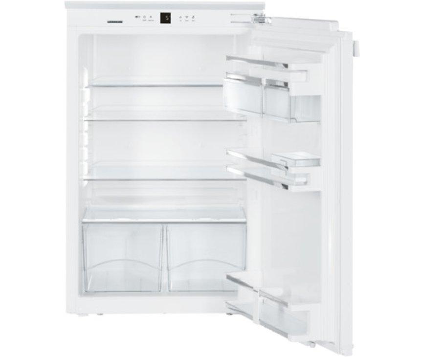 Het interieur van de Liebherr IKP1660 inbouw koelkast