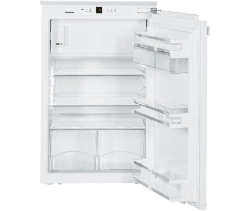 Het interieur van de Liebherr IKP1664 inbouw koelkast