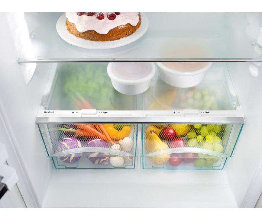 De BioCool lades van de Liebherr IKP1664 inbouw koelkast