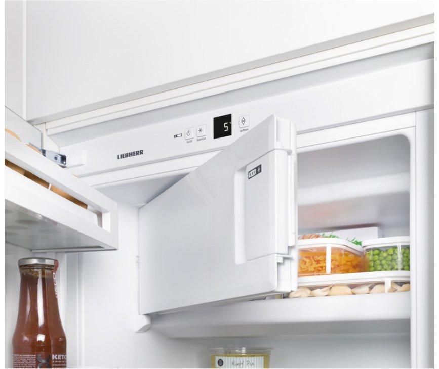 Het vriesgedeelte van de Liebherr IKS1624 inbouw koelkast