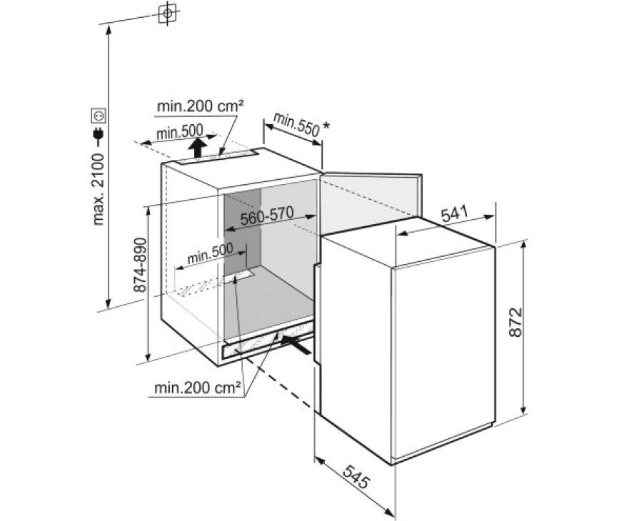 Liebherr IRSf3900-20 inbouw koelkast - nis 88 cm.