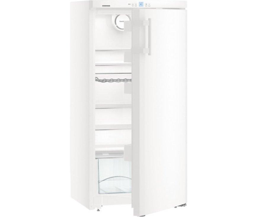 De Liebherr K2630 koelkast kastmodel is te bedienen via het display aan de bovenzijde