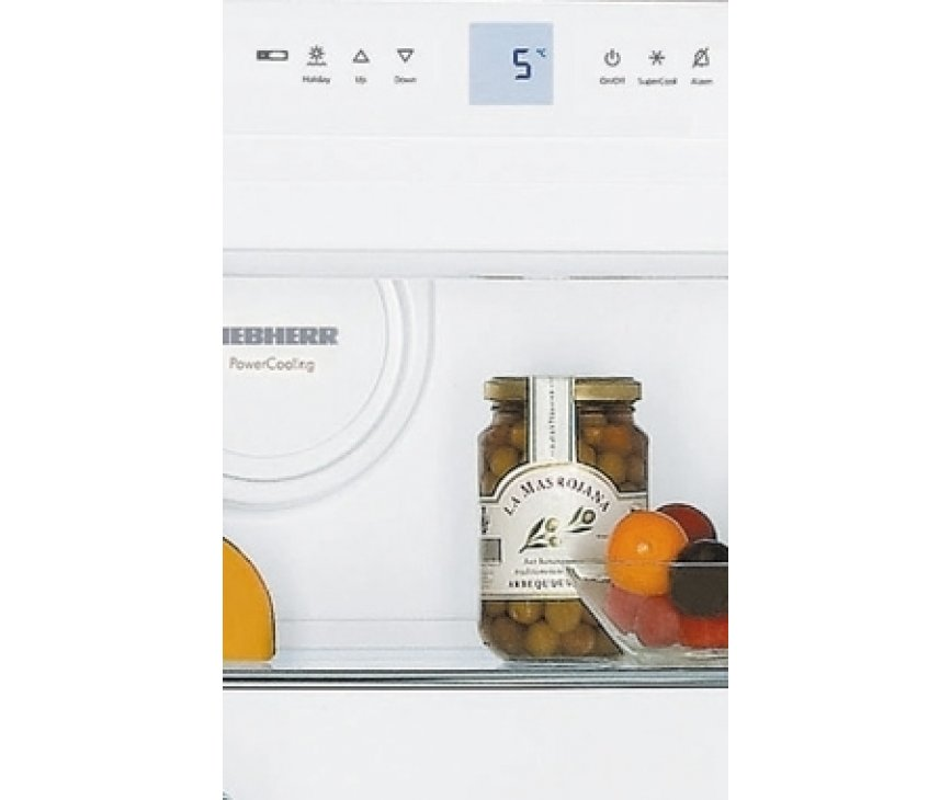De Liebherr KB3660 koelkast beschikt over een digitaal display voor het instellen van de temperatuur