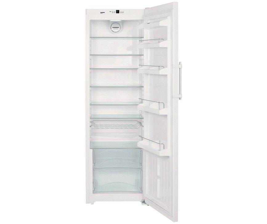 185 cm. hoge koelkast van LIEBHERR uitgevoerd met luxe interieur