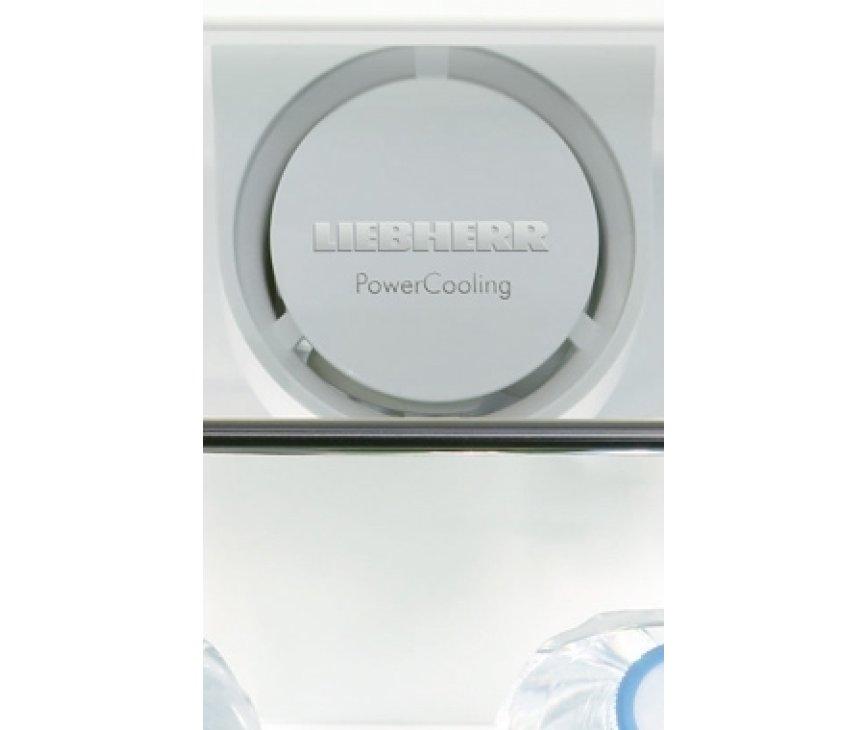 De Liebherr KPesf3620 is uitgevoerd met PowerCooling zodat overal een gelijke temperatuur bereikt wordt.