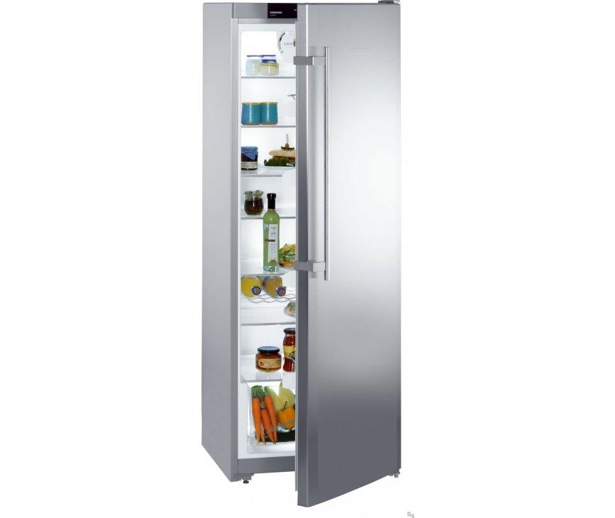 Foto van de LIEBHERR kastmodel koelkast KPesf3620 uitgevoerd met rvs deuren