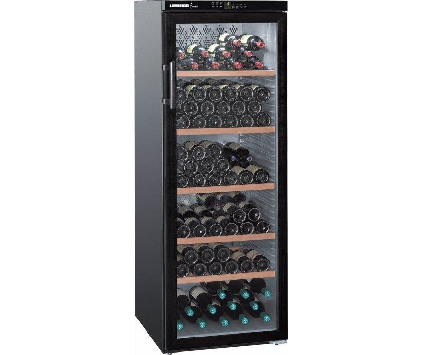 De Liebherr WTB4212 wijnkoelkast biedt ruimte aan 200 flessen