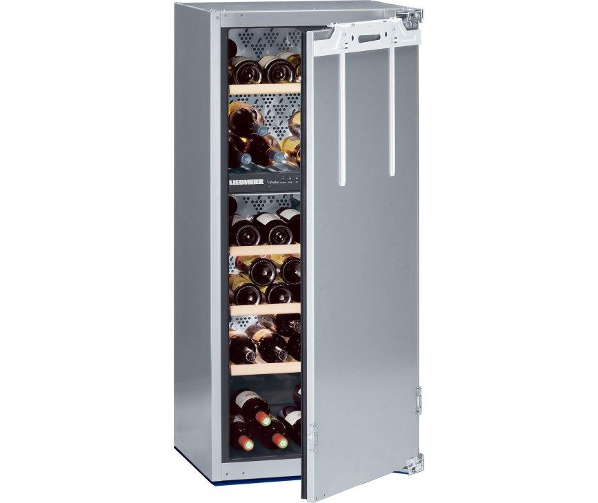 De Liebherr WTI2050 inbouw wijnkoelkast maakt gebruik van deur-op-deur montage