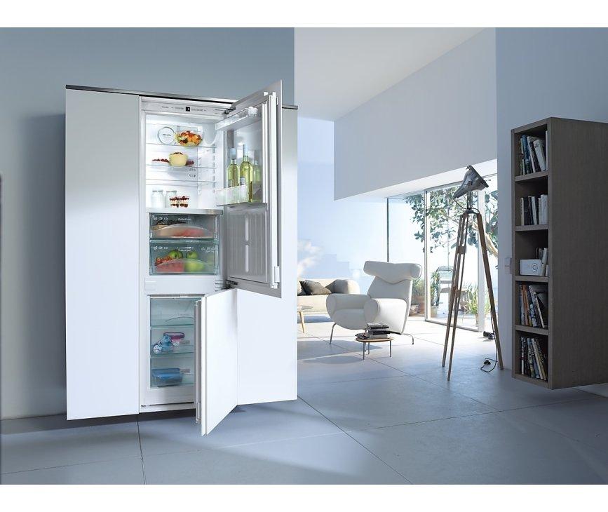 Bedieningspaneel van de Miele KFN37282ID inbouw koelkast