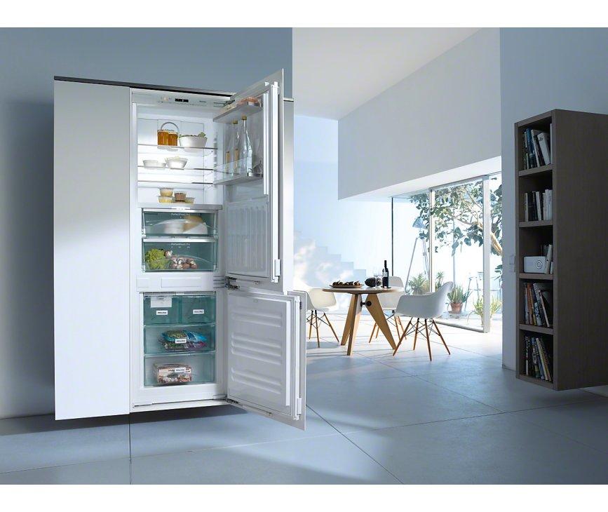 Bedieningspaneel van de Miele KFN37692IDE inbouw koelkast