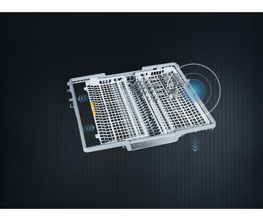 De Miele G7278 SCVi XXL beschikt over een flexibel indeelbare besteklade