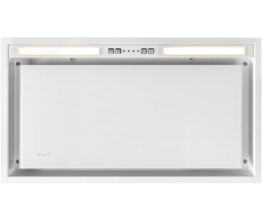 Novy 26050 inbouw afzuigkap - Vision - wit glas - 60 cm. breed