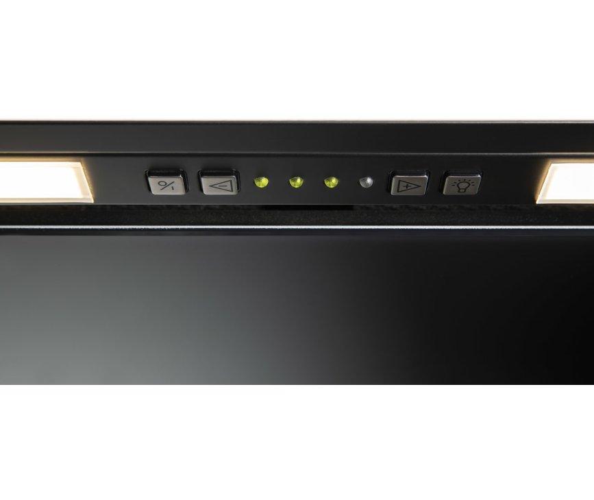 Novy 26082  inbouw afzuigkap - Vision - zwart glas - 90 cm. breed