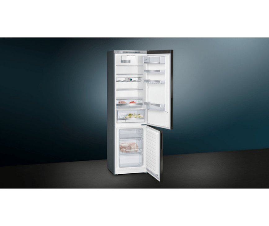 Siemens KG39E8XBA blacksteel koelkast - 201 cm. hoog - lowfrost
