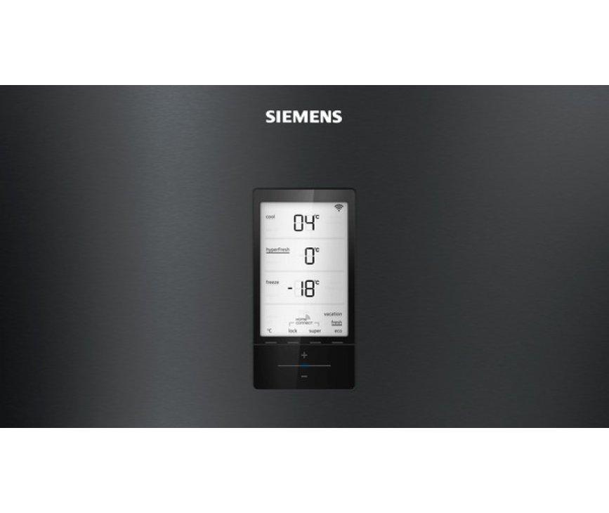 Siemens KG56FPXCA vrijstaande koel/vriescombinatie - blacksteel - 70 cm. breed