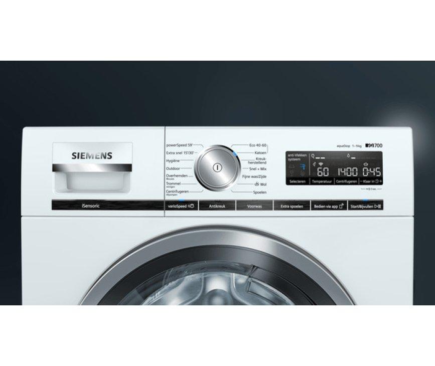 Siemens WM14VMH7NL wasmachine - 1400 toeren - 9 kg.