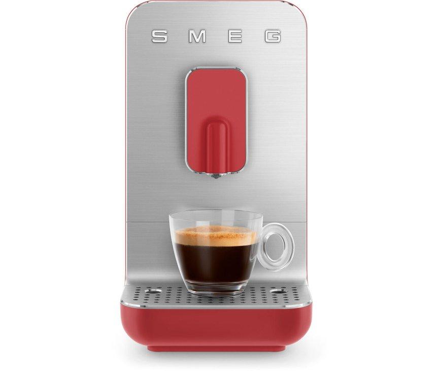 Smeg BCC01RDMEU volautomatische koffiemachine - mat rood - retro jaren 50