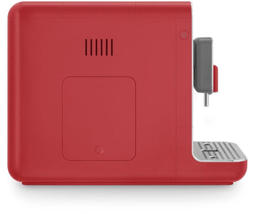 Smeg BCC02RDMEU volautomatische koffiemachine - mat rood - retro jaren 50