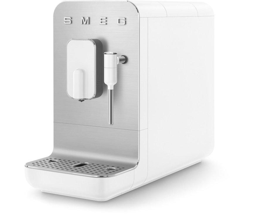 Smeg BCC02WHMEU volautomatische koffiemachine - mat wit - retro jaren 50