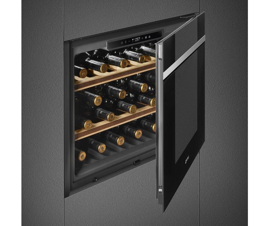 Smeg CVI121N3 inbouw wijnkoelkast - Linea - nis 45 cm.
